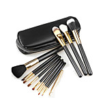 12 Makeup Brushes Set Horse / Goat Hair / Synthetic Hair Portable Wood Face / Send Package