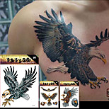 3 Tattoo Stickers Animal Series / Totem Series / Others / Cartoon Series Non Toxic / Pattern / Large Size / Lower Back / Waterproof / 3-D