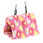 Bird Parrot Hammock Hanging Bunk Bed Cave Cage Hole Tent Plush Wool S