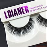 Full Strip Lashes Eyes Thick Handmade mink hair eyelash Black Band 0.10mm 12mm LD202