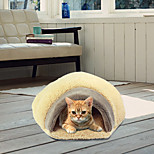 Cat Bed Pet Cushion & Pillows Soft Brown Polar Fleece
