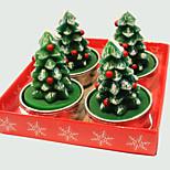 Christmas Candle  Cute Christmas Tree Chape 4 Pcs