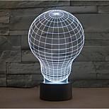 ampoule tactile gradation LED 3D lumière de nuit lampe atmosphère décoration 7colorful éclairage nouveauté lumière de Noël
