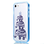 Transparent  Elephant  Pattern Case Back Cover Case Soft TPU For iPhone 7 Plus 7 6s Plus 6 Plus 6s 6 5s SE