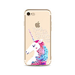 Pour Coque iPhone 7 Coque iPhone 6 Coque iPhone 5 Translucide Motif Coque Coque Arrière Coque Animal Flexible PUT pour AppleiPhone 7 Plus