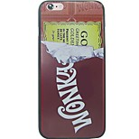 Para Funda iPhone 7 / Funda iPhone 6 / Funda iPhone 5 IMD / Diseños Funda Cubierta Trasera Funda Palabra / Frase Dura Policarbonato Apple