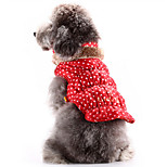 Dog Coat / Sweater Red / Blue / Coffee Dog Clothes Winter / Spring/Fall Flower Cute / Keep Warm