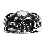 Ring Jewelry Steel Skull / Skeleton Fashion Black Jewelry Wedding Party Halloween Daily 1pc
