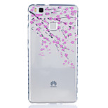 Plum Pattern Tpu Material Highly Transparent Phone Case For Huawei P9 P9 Plus Y5II Y6II