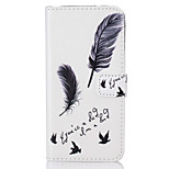 For Huawei P9 P9 Lite Card Holder Flip  Feathers Pattern Case Full Body Case Hard PU Leather