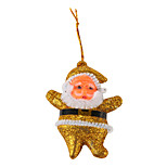 Santa Claus 3 Inch Colorful Pendant 6 PCS