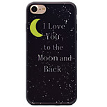 Moon Pattern Black TPU Material Soft Phone Case for iPhone 7 Plus 7 6S 6Plus 5 SE