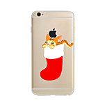 Para Translúcido / Estampada Capinha Capa Traseira Capinha Natal Macia TPU AppleiPhone 7 Plus / iPhone 7 / iPhone 6s Plus/6 Plus / iPhone