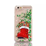 Christmas Gift PC Flowing Liquid Case for iPhone 7 7 Plus 6s 6 Plus SE 5s