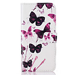 For Huawei Ascend P9 Lite P9 Card Holder Flip  Butterfly Pattern Case Full Body Case Hard PU Leather