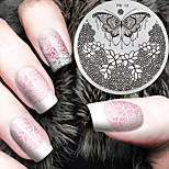 2016 Latest Version Fashion Pattern Butterfly Flower Nail Art Stamping Image Template Plates