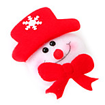 Snow Man Brooch