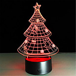 il regalo di natale 3d Nightlight creativo colorato lampada a led