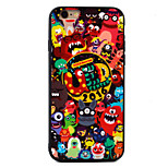 Monster Pattern Relief High Strength Touch Handle TPU Frame  Acrylic Material Phone Shell For iPhone 7  7Plus 6S 6 Plus
