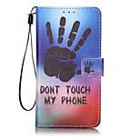 Per A portafoglio / Porta-carte di credito / Con chiusura magnetica / Fantasia/disegno Custodia Integrale Custodia Frasi famose Resistente