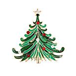 Weihnachtsbaum Brosche koreanischen hochwertigen Diamant-Dame Zubehör Kragen Weihnachtsgeschenk