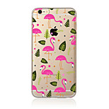 Para Translúcido / Estampada Capinha Capa Traseira Capinha Animal Macia TPU AppleiPhone 7 Plus / iPhone 7 / iPhone 6s Plus/6 Plus /