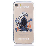 Para Funda iPhone 7 / Funda iPhone 6 / Funda iPhone 5 Transparente / Diseños Funda Cubierta Trasera Funda Dibujos Suave TPU AppleiPhone 7