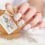 The Bride a Piece of Fake Nails Manicure Finished French Patch Manicure Beijiao Paragraph