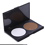 Highlighters/Bronzers Powder Coloured gloss / Long Lasting / Fast Dry Face 2 Color