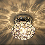 Beauty Crystal Ceiling Lights Chrome Finish in Ball Shape
