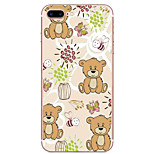 For iPhone 7 Case / iPhone 6 Case / iPhone 5 Case Ultra-thin / Pattern Case Back Cover Case Animal Soft TPU AppleiPhone 7 Plus / iPhone 7