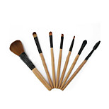 7 Makeup Brushes Set Nylon Portable Wood Face G.R.C / Send Package