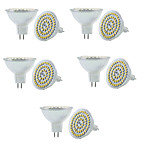 6W GU5.3(MR16) Focos LED MR16 60 SMD 3528 550-600LM lm Blanco Cálido / Blanco Fresco Decorativa / Regulable V 10 piezas