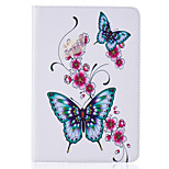 PU Leather Material Peach Butterflies Embossed Pattern Flat Protective Cover for iPad Mini 123 4