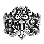 Ring Non Stone Skull Halloween Wedding Party Daily Casual Sports Jewelry Steel Men Ring 1pc,8 9 10 11 Silver