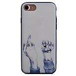 Per Decorazioni in rilievo / Fantasia/disegno Custodia Custodia posteriore Custodia Frasi famose Resistente Acrilico AppleiPhone 7 Plus /