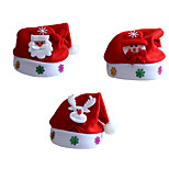 3pcs/Lot Unisex Adult Children Santa Claus Xmas Christmas Hat Santa's Caps for Christmas Party Costume Decoration