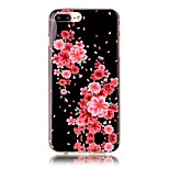 Safflower Pattern HD Painted TPU Material Phone Shell For iPhone 7 7 Plus 6s 6 Plus