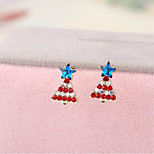 Christmas No Ear Pierced Ear Clip Earrings Ear Stud