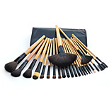 24 Makeup Brushes Set Goat Hair Professional / Portable Wood Handle Face/Eye/Lip