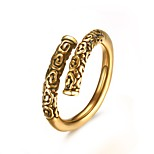 Men's Ring Band Rings Daily/Hallowas/Party/Wedding/Casual Fashion Stainless Steel/Gold Plated Golden/White 1pc Gift