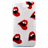 Sexy Lips Pattern Painted TPU Material Phone Case for Hawei Y5II  Y6 II