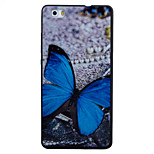 For HUAWEI P8Lite Y5II Y6II Case Cover Butterfly Pattern Black TPU Material Phone Shell