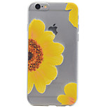 Para Estampada Capinha Capa Traseira Capinha Flor Macia TPU AppleiPhone 7 Plus / iPhone 7 / iPhone 6s Plus/6 Plus / iPhone 6s/6 / iPhone