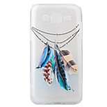 Feather Pattern Painting Diamond Transparent TPU Material Phone Case For HUAWEI P9 P8 Lite