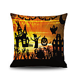 Halloween Carnival Square Linen  Decorative Throw Pillow Case Cushion Cover