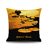 Halloween Pumpkin Tree 1 Square Linen Decorative Throw Pillow Case Cushion Cover