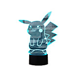 Pocket Series Pikachu 2 3D Lights Colorful Touch LED Visual Lights