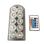 1W 4-pin Lumières LED Aquarium T 3 SMD 3528 100 lm RVB / Rouge / Bleu / Jaune / Vert / Violet / Rose / Orange Décorative / Etanches V10