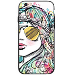 Sexy Lady Pattern Acrylic&TPU Soft Case Back Cover For iPhone 6s Plus 6 Plus iPhone 6s 6 iPhone SE 5s 5